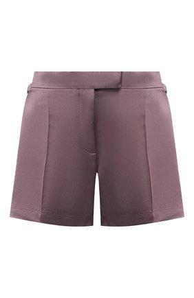 Женские шорты из смеси вискозы и льна TOM FORD сиреневого цвета, арт. SH0009-FAX595 | Фото 1
