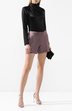 Женские шорты из смеси вискозы и льна TOM FORD сиреневого цвета, арт. SH0009-FAX595 | Фото 2
