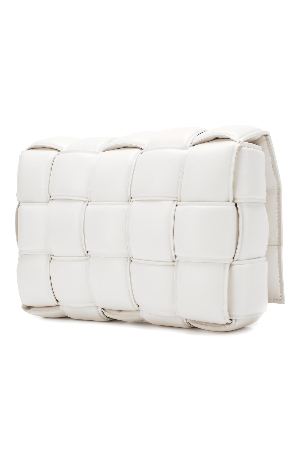 Женская сумка padded cassette BOTTEGA VENETA белого цвета, арт. 591970/VCQR1   Фото 3