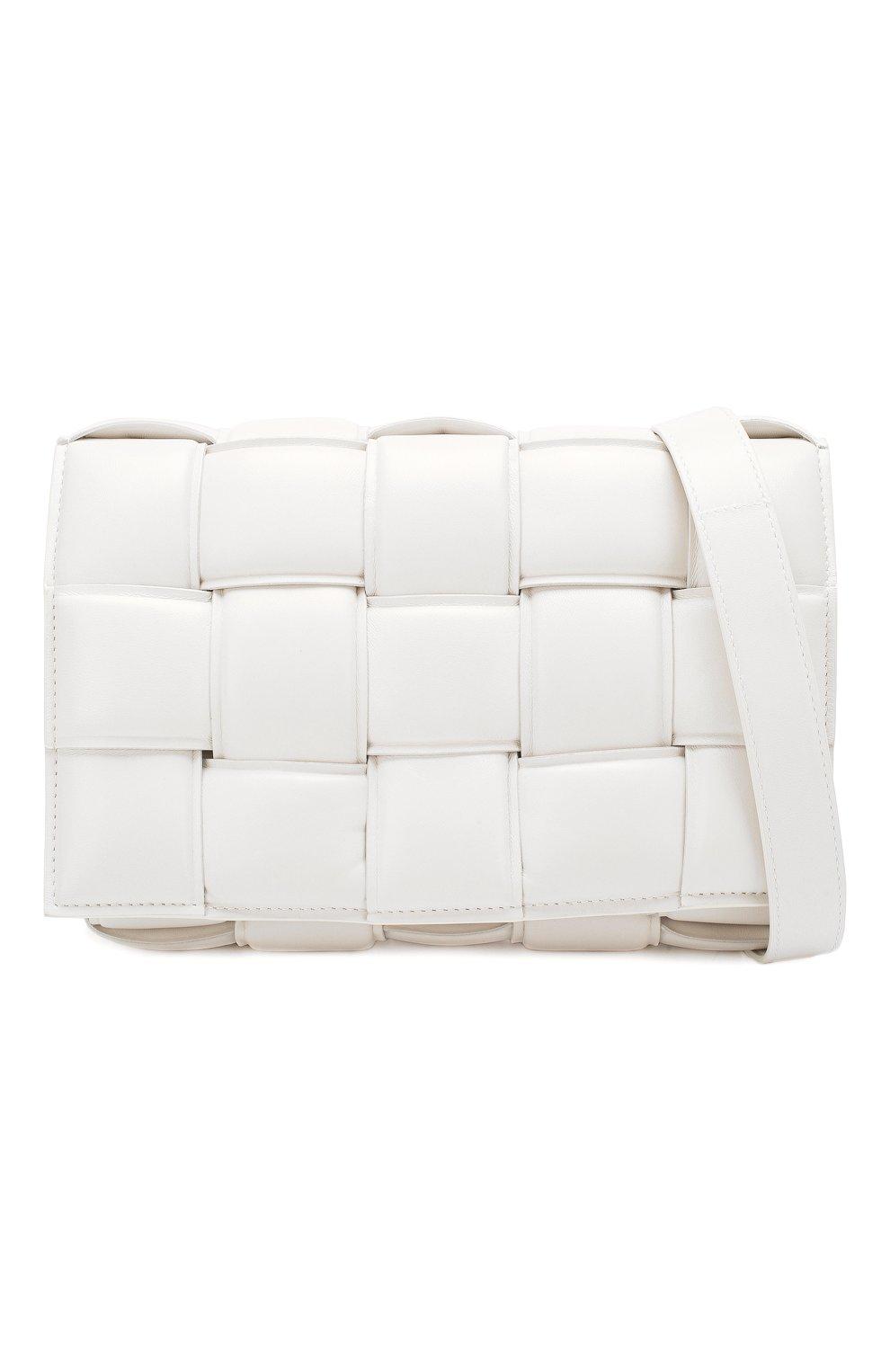 Женская сумка padded cassette BOTTEGA VENETA белого цвета, арт. 591970/VCQR1   Фото 6