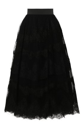 Женская юбка-миди DOLCE & GABBANA черного цвета, арт. F4BQPT/HLM1W | Фото 1