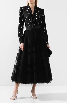 Женская юбка-миди DOLCE & GABBANA черного цвета, арт. F4BQPT/HLM1W | Фото 2