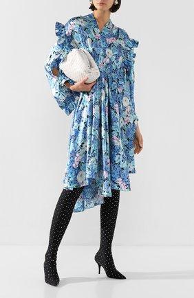 Женские текстильные ботфорты knife BALENCIAGA черного цвета, арт. 589161/W04Z6 | Фото 2