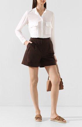 Женские текстильные шлепанцы suitcase stripe LORO PIANA коричневого цвета, арт. FAL1150   Фото 2