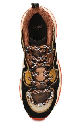 Женские комбинированные кроссовки FENDI разноцветного цвета, арт. 8E7043 A8P5 | Фото 5