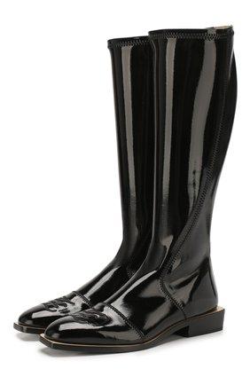Женские сапоги FENDI черного цвета, арт. 8U7054 A8U6 | Фото 1