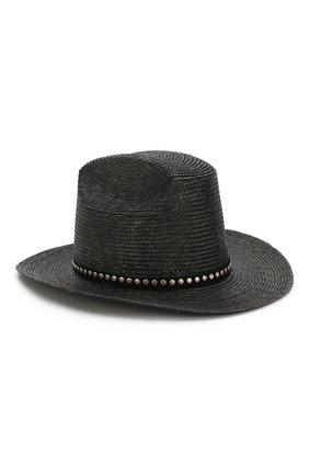 Женская шляпа SAINT LAURENT черного цвета, арт. 611267/3YE42 | Фото 1