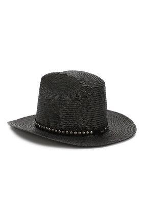Женская шляпа SAINT LAURENT черного цвета, арт. 611267/3YE42 | Фото 2