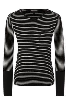 Женский пуловер из вискозы GIORGIO ARMANI черного цвета, арт. 3HAM07/AM25Z | Фото 1