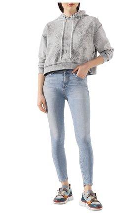 Женская хлопковое худи STELLA MCCARTNEY светло-серого цвета, арт. 600412/SNW46 | Фото 2