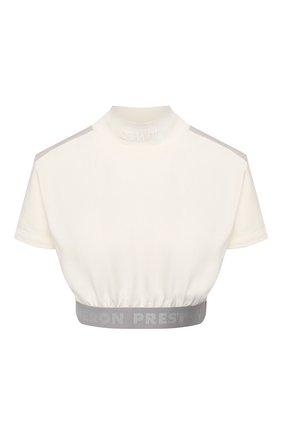 Женская хлопковый топ HERON PRESTON белого цвета, арт. HWAD012R209130070105 | Фото 1