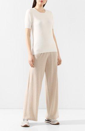 Женские кашемировые брюки CRUCIANI светло-бежевого цвета, арт. CD25.006 | Фото 2
