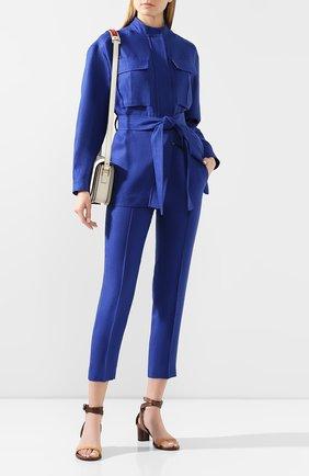 Женские льняные брюки LORO PIANA синего цвета, арт. FAL1221 | Фото 2