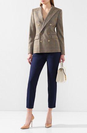 Женские укороченные брюки RALPH LAUREN синего цвета, арт. 290803714 | Фото 2