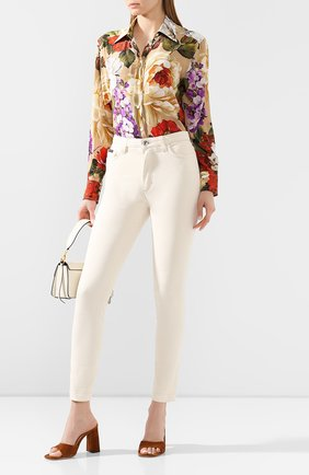 Женские джинсы DOLCE & GABBANA бежевого цвета, арт. FTAH6D/G8CH9 | Фото 2