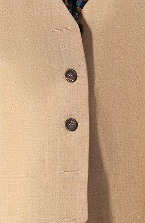 Женский шерстяной жилет BRUNELLO CUCINELLI бежевого цвета, арт. MH120HS106 | Фото 5
