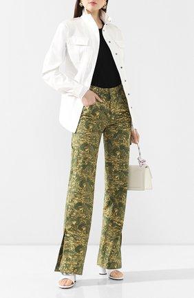 Женская хлопковая куртка OFF-WHITE белого цвета, арт. 0WEL003R20H360680100 | Фото 2