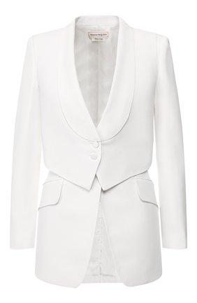 Женский жакет ALEXANDER MCQUEEN белого цвета, арт. 621339/QEAAA | Фото 1