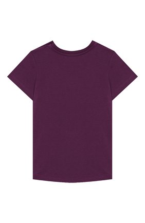 Детский хлопковая футболка GUCCI фиолетового цвета, арт. 548034/XJB6F | Фото 2