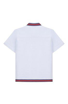 Детский хлопковая рубашка GUCCI голубого цвета, арт. 591633/XWAH0 | Фото 2