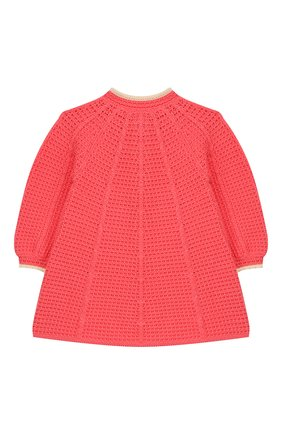 Детского хлопковое пальто GUCCI розового цвета, арт. 596300/XKA6Q | Фото 2