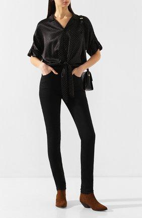 Женские джинсы SAINT LAURENT черного цвета, арт. 614478/Y0500 | Фото 2
