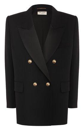 Женский шерстяной жакет SAINT LAURENT черного цвета, арт. 614347/Y512W | Фото 1
