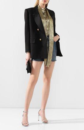 Женский шерстяной жакет SAINT LAURENT черного цвета, арт. 614347/Y512W | Фото 2