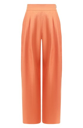 Женские льняные брюки EMPORIO ARMANI оранжевого цвета, арт. 5NP24T/52012   Фото 1