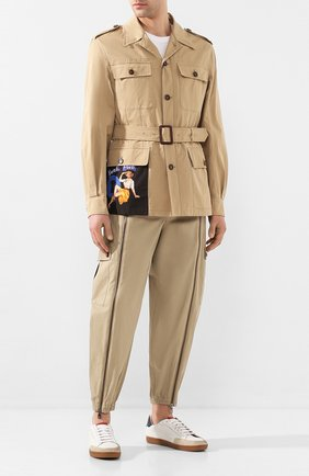 Мужская хлопковая куртка DOLCE & GABBANA бежевого цвета, арт. G9RS1T/FUFJ9 | Фото 2