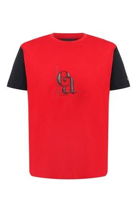 Мужская хлопковая футболка EMPORIO ARMANI красного цвета, арт. 3H1TN3/1JCQZ   Фото 1