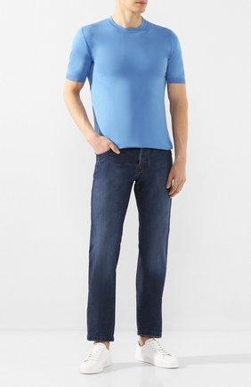 Мужские джинсы KITON темно-синего цвета, арт. UPNJS/J07S33 | Фото 2
