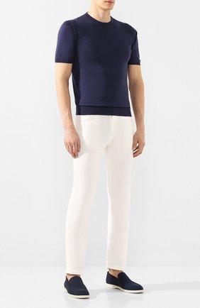 Мужской брюки KITON белого цвета, арт. UPNJSJ07S73 | Фото 2
