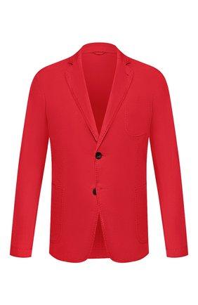 Мужской пиджак из смеси льна и хлопка GIORGIO ARMANI красного цвета, арт. 0SGGG0D9/T01FI | Фото 1