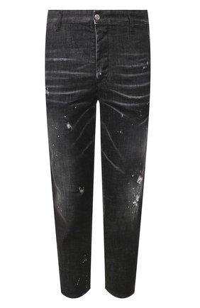 Мужские джинсы DSQUARED2 черного цвета, арт. S71KB0276/S30357   Фото 1