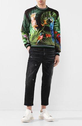 Мужские джинсы DSQUARED2 черного цвета, арт. S71KB0276/S30357   Фото 2