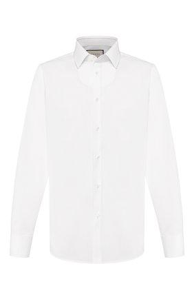 Мужская хлопковая сорочка GUCCI белого цвета, арт. 535172/21131 | Фото 1