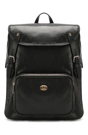Мужской кожаные рюкзак GUCCI черного цвета, арт. 575823/1GZBX | Фото 1