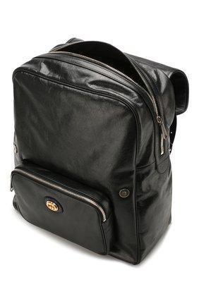 Мужской кожаные рюкзак GUCCI черного цвета, арт. 575823/1GZBX   Фото 4