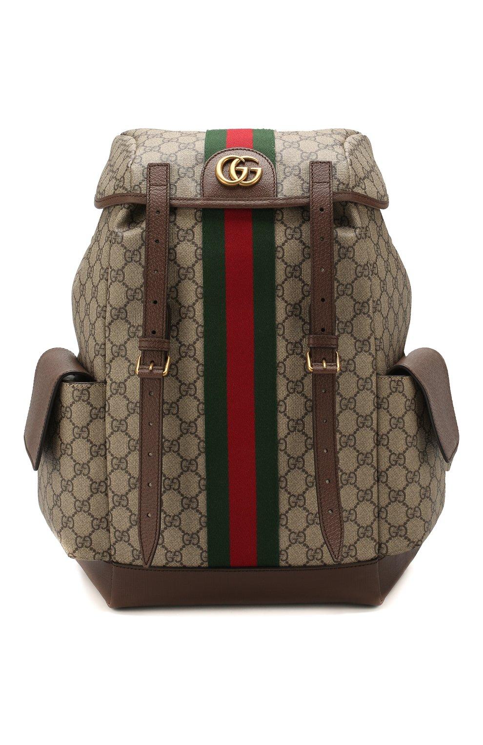 Мужской рюкзак ophidia gg GUCCI бежевого цвета, арт. 598140/HUHAT   Фото 1