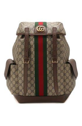 Мужской рюкзак ophidia gg GUCCI бежевого цвета, арт. 598140/HUHAT | Фото 1