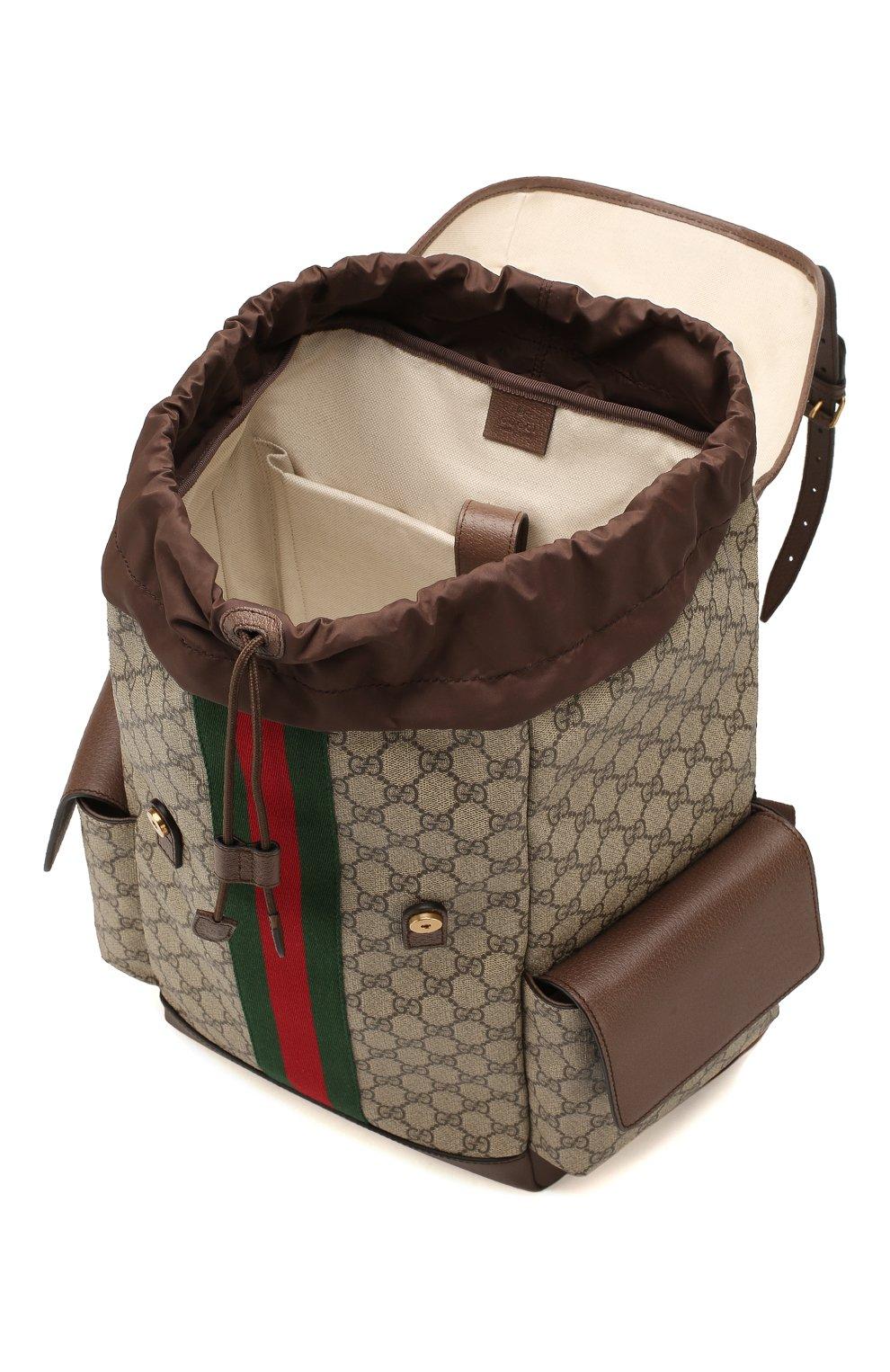 Мужской рюкзак ophidia gg GUCCI бежевого цвета, арт. 598140/HUHAT   Фото 4