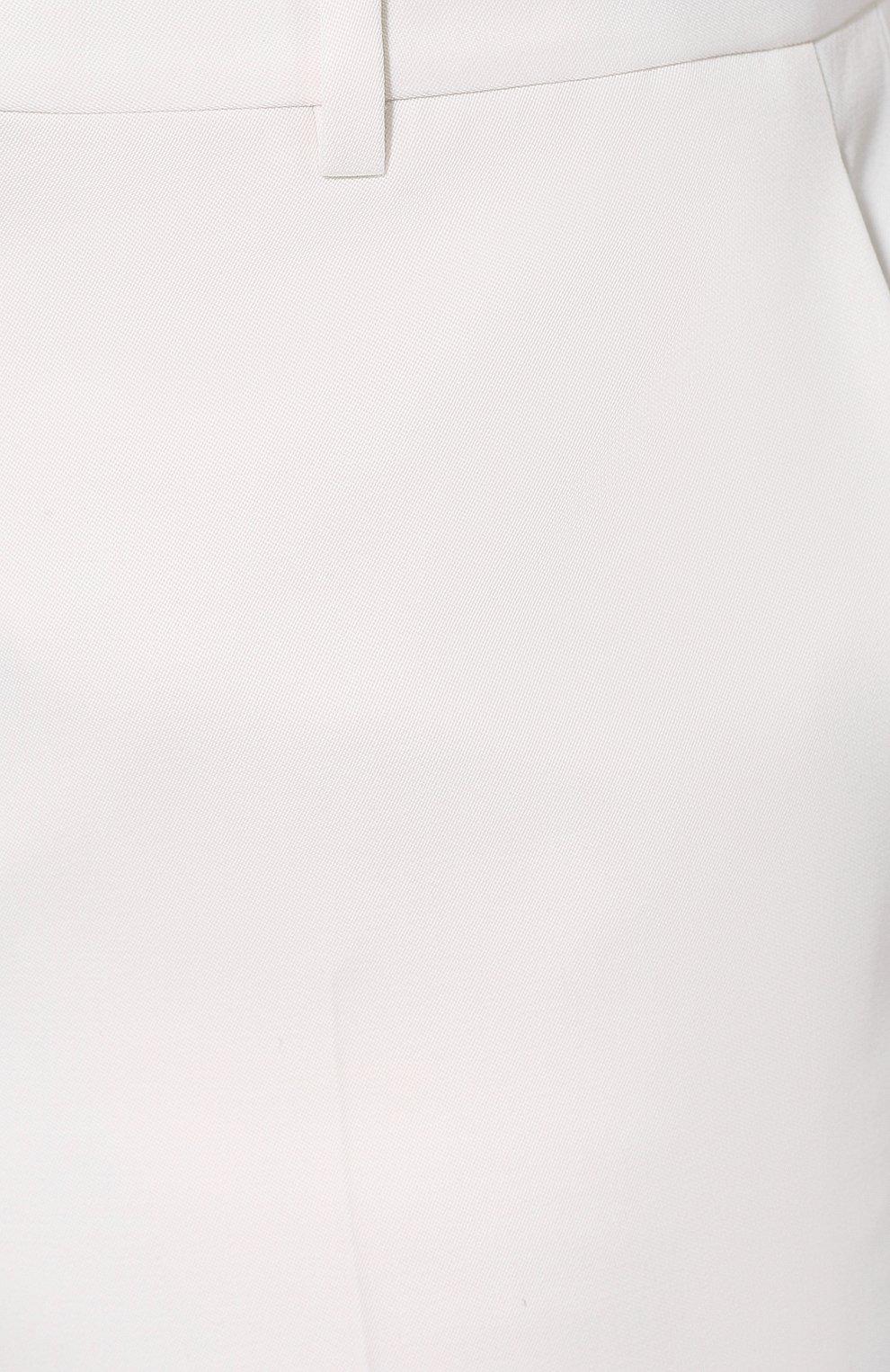 Мужские шерстяные брюки SAINT LAURENT белого цвета, арт. 598345/Y1A09 | Фото 5