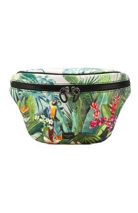 Мужская текстильная поясная сумка DOLCE & GABBANA зеленого цвета, арт. BM1760/AX533 | Фото 1
