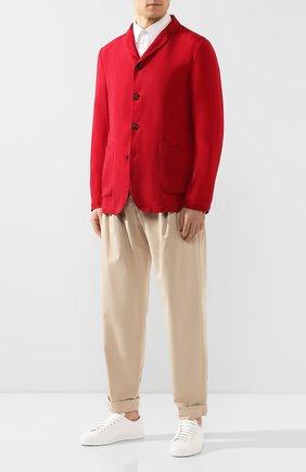 Мужской пиджак GIORGIO ARMANI красного цвета, арт. 0SGGG0FG/T00AB | Фото 2