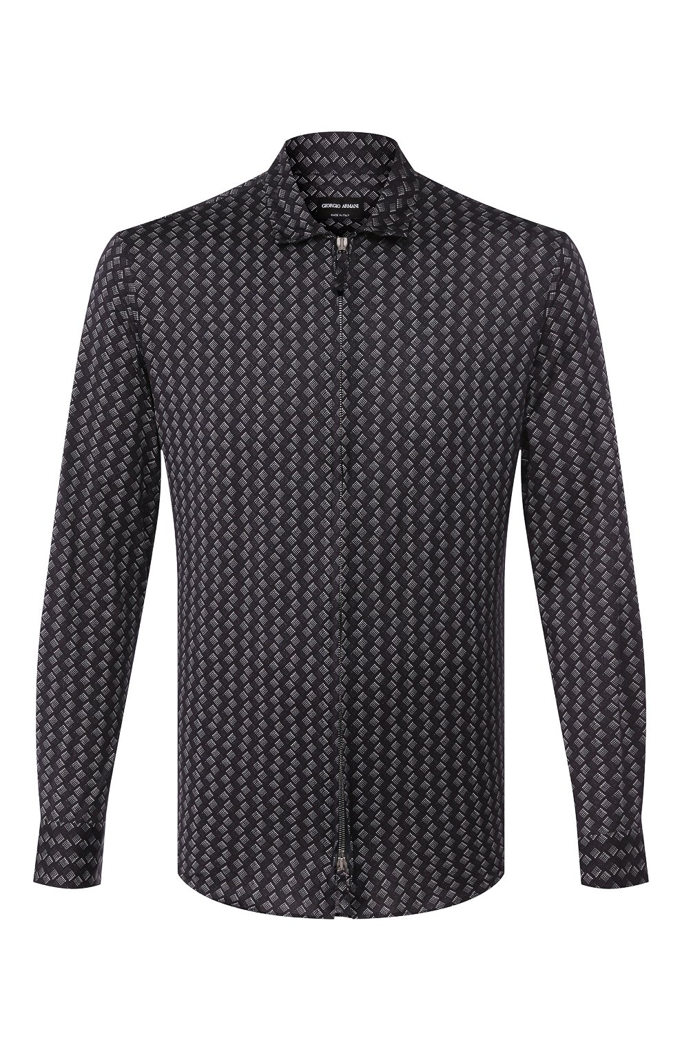 Мужская хлопковая рубашка GIORGIO ARMANI темно-синего цвета, арт. 8WGCCZ5H/JZ545 | Фото 1