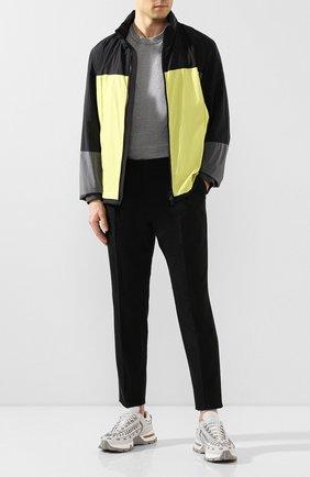 Мужской брюки из смеси шерсти и хлопка Z ZEGNA черного цвета, арт. 7ZF018/73N5C2 | Фото 2