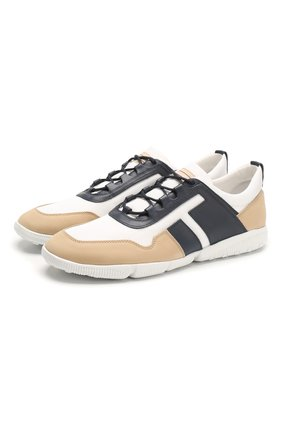 Мужские комбинированные кроссовки TOD'S бежевого цвета, арт. XXM25C0CP51772 | Фото 1