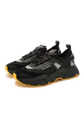Мужские комбинированные кроссовки daymaster DOLCE & GABBANA черного цвета, арт. CS1766/AX034 | Фото 1