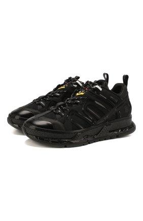 Мужские комбинированные кроссовки union BURBERRY черного цвета, арт. 8024947 | Фото 1 (Подошва: Массивная; Материал внутренний: Текстиль; Материал внешний: Текстиль; Стили: Гранж)